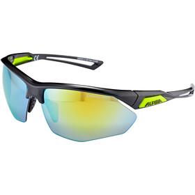 Alpina Nylos HR Cykelbriller, black-neonyellow